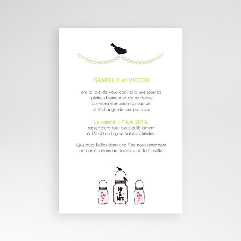 Faire Part Mariage Pochette rectangulaire - Flacons d'amour 39556 thumb