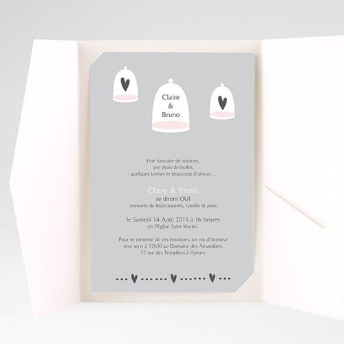 Faire Part Mariage Pochette rectangulaire - Amour illuminé 39570 thumb