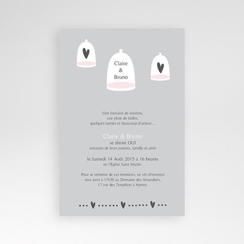 Faire Part Mariage Pochette rectangulaire - Amour illuminé 39572 preview