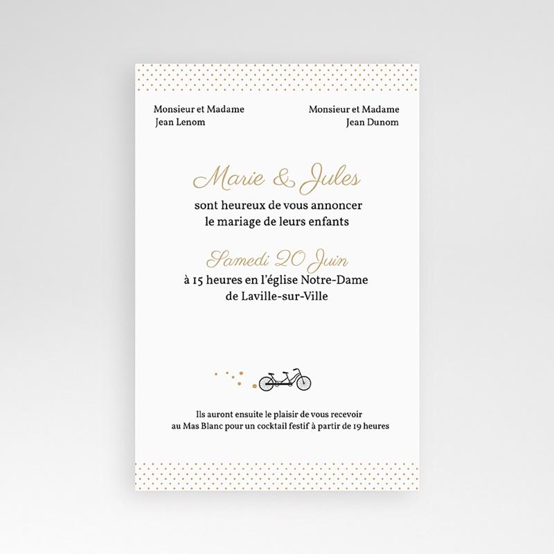 Faire Part Mariage Pochette rectangulaire - Tandem 39592 thumb
