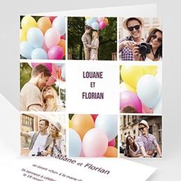 Faire-part mariage photo Photomontage de mon Mariage