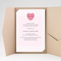 Faire-Part Mariage Rose bonbon