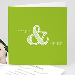 Carte Mariage Photo - Anis - 3