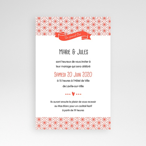 Faire Part Mariage Pochette rectangulaire - Origami 39696 thumb