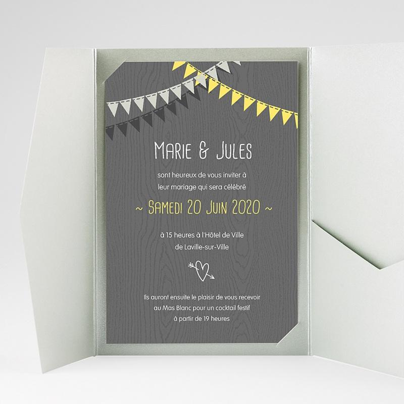 Faire Part Mariage Pochette rectangulaire - Soir d'Eté 39703 thumb
