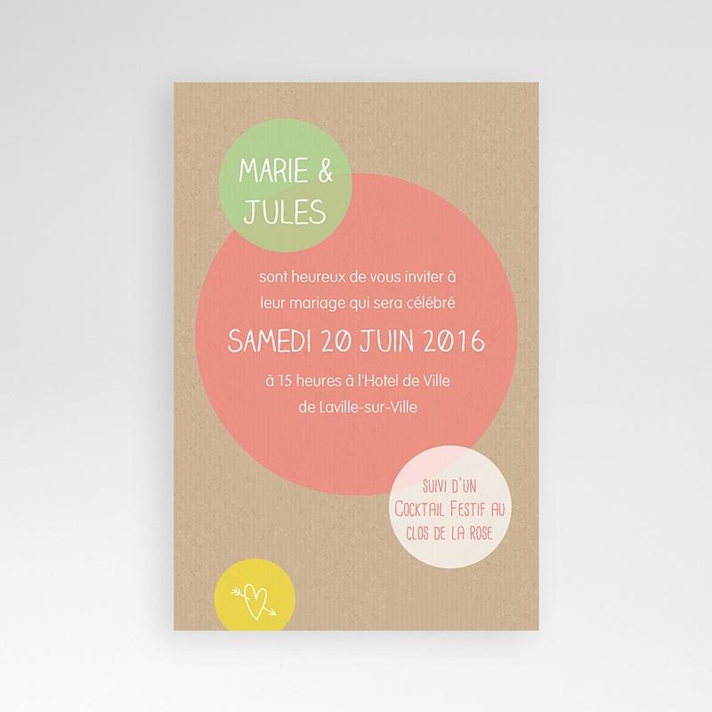 Faire Part Mariage Pochette rectangulaire - Bulles créatives 39712 thumb