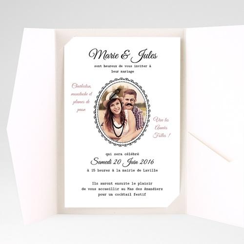 Faire Part Mariage Pochette rectangulaire - Années Folles 39742 preview