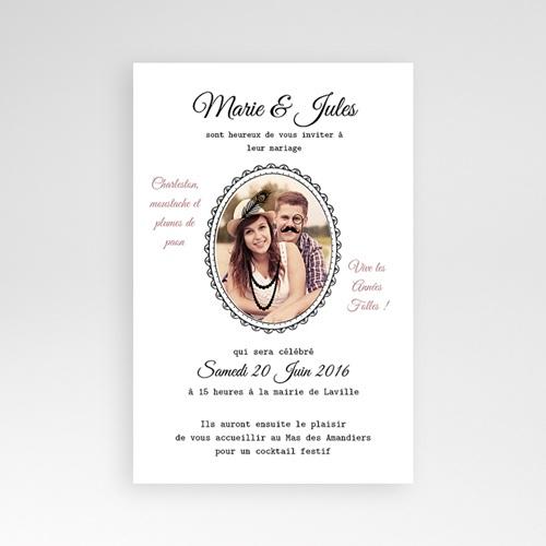 Faire Part Mariage Pochette rectangulaire - Années Folles 39744 preview