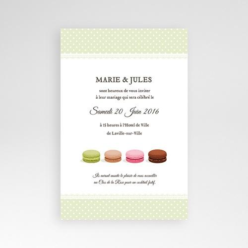 Faire Part Mariage Pochette rectangulaire - Amour de macaron 39768 thumb