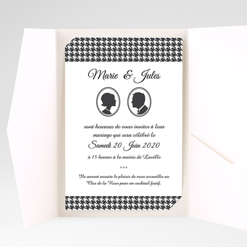 Faire Part Mariage Pochette rectangulaire - Plaza 39770 preview