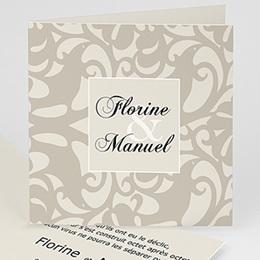 Faire-Part Mariage Personnalisés - Mariage d'arabesques - gris - 3