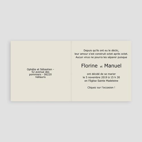Faire-Part Mariage Personnalisés - Esprit de Château 3979 preview