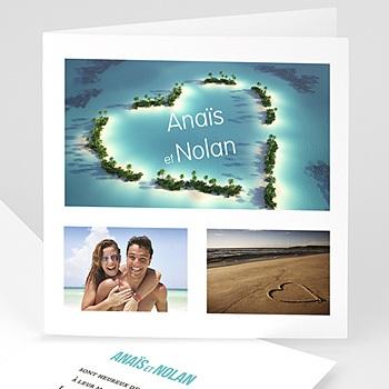 Faire-part mariage photo Voyage de Noces