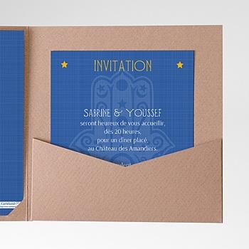Carte d'invitation mille et une nuits à personnaliser