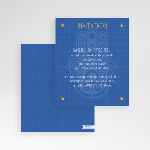 Carte d'invitation Mille et une nuits gratuit