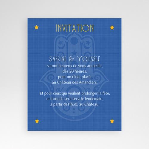 Carte d'invitation Mille et une nuits