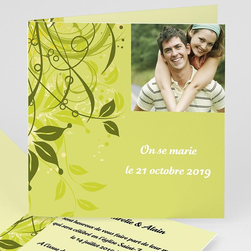 Faire-part mariage vert Mariage Bucolique