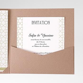 Achat carte d'invitation motifs d'orient