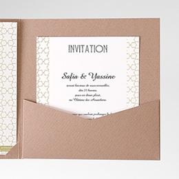 Carte d'invitation Motifs d'orient