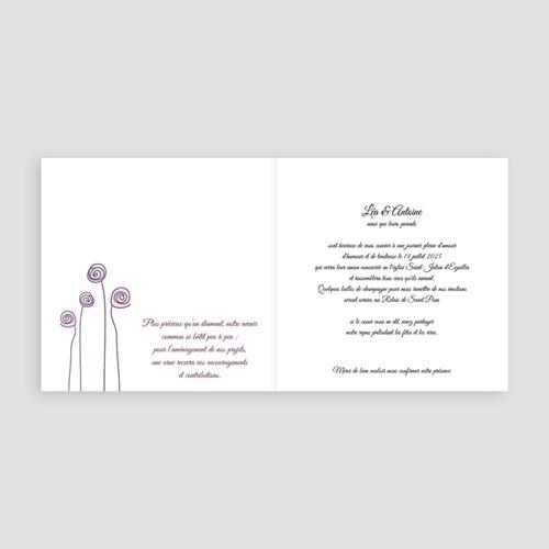 Faire-Part Mariage Personnalisés - Mariage en blanc et rose 4003 preview