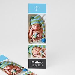 Marque Page Baptême  Dragées de Baptême - Bleu
