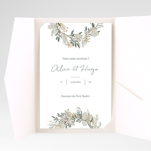 Faire Part Mariage Pochette rectangulaire - Marions-nous ! 40214 thumb