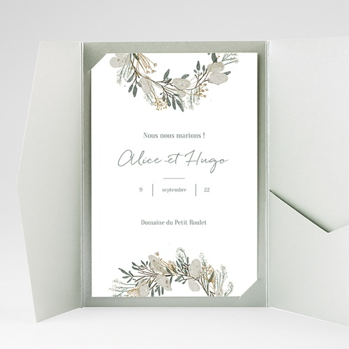 Faire Part Mariage Pochette rectangulaire - Marions-nous ! 40215 thumb