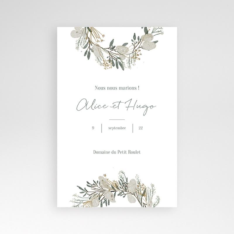 Faire Part Mariage Pochette rectangulaire - Marions-nous ! 40216 thumb