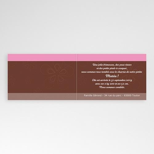 Faire-Part Naissance Fille - Une Rose en Chocolat 4023 preview
