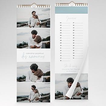 Calendrier photo perpétuel 2020 personnalisé - Message éternel - 0