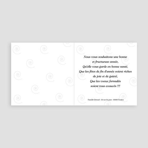 Carte de Voeux 2019 -  Cadeau Bandeau Noir 4037 thumb