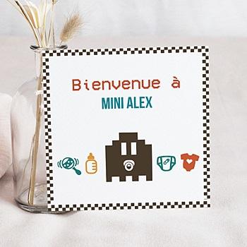Faire-Part Naissance Garçon - Jeu Vidéo - 0