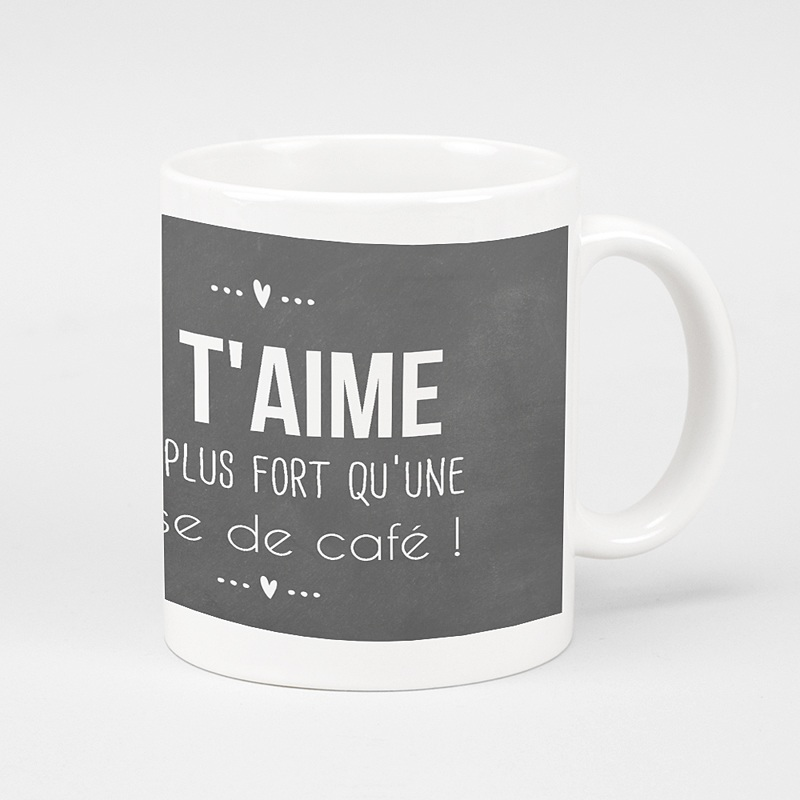 mug personnalis tasse caf message d 39 amour. Black Bedroom Furniture Sets. Home Design Ideas