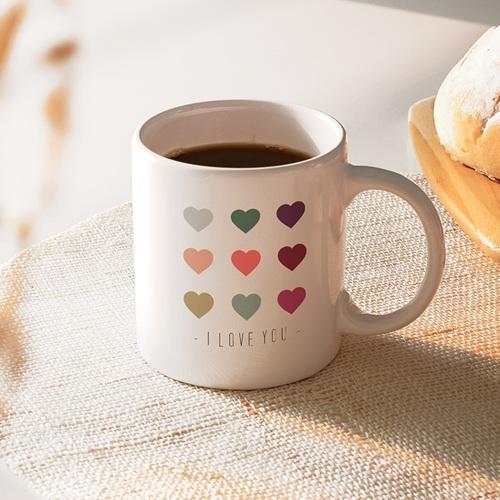 Mug Personnalisé - Coeurs de couleurs 40478 thumb