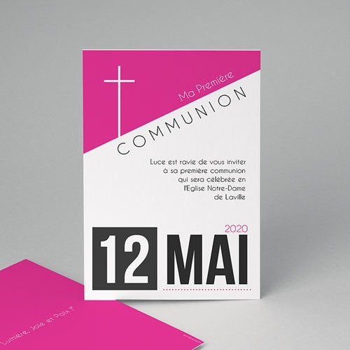 Faire-part Communion Fille - Affiche fille 40545