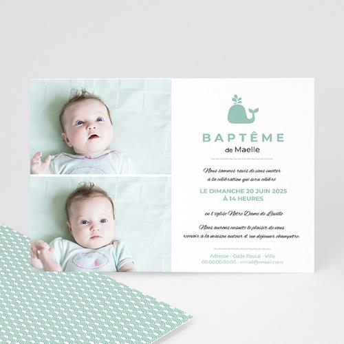 Faire-part Baptême Fille - Eau bénite 40554