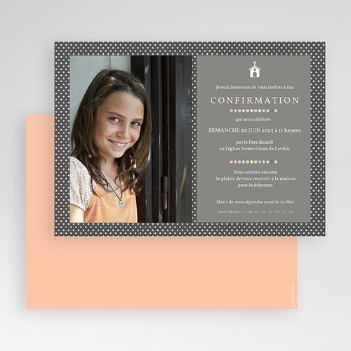 Carte Invitation Confirmation Pois macaron gratuit