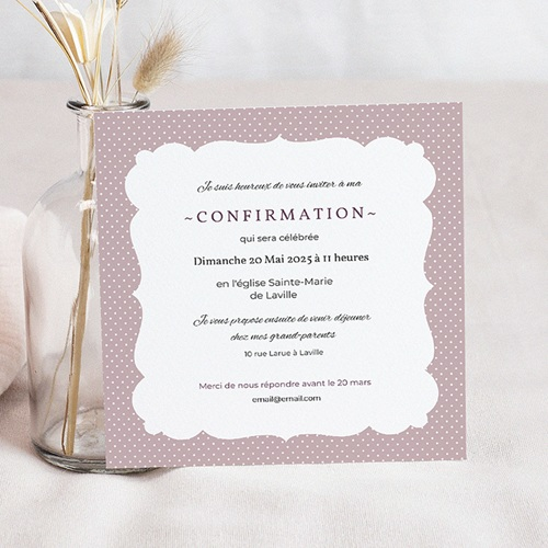 Invitation Confirmation  - Elegance 40598