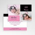 Remerciements Naissance Fille - Mille Instants de bonheur - Rose 4061 thumb
