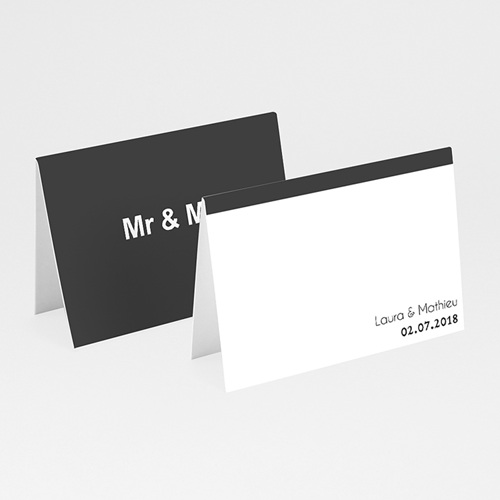 Marque Place Mariage Personnalisés Mr & Mrs