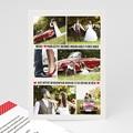 Carte remerciement mariage - Rouge Vintage - 4082