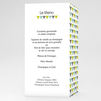 Créer soi même menu mariage personnalisé jolis triangles