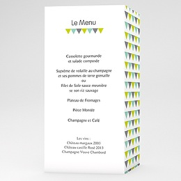 Menu Mariage Jolis triangles