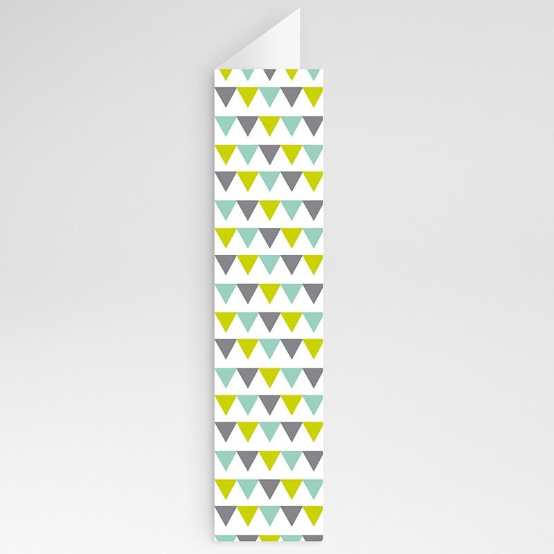 Menu Mariage Personnalisé Jolis triangles gratuit