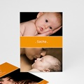 Faire-Part Naissance Fille - Bande-Annonce orange 4108 thumb