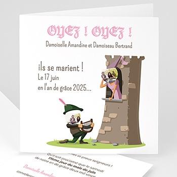 Faire Part mariage humoristique - Moyen Age - 0