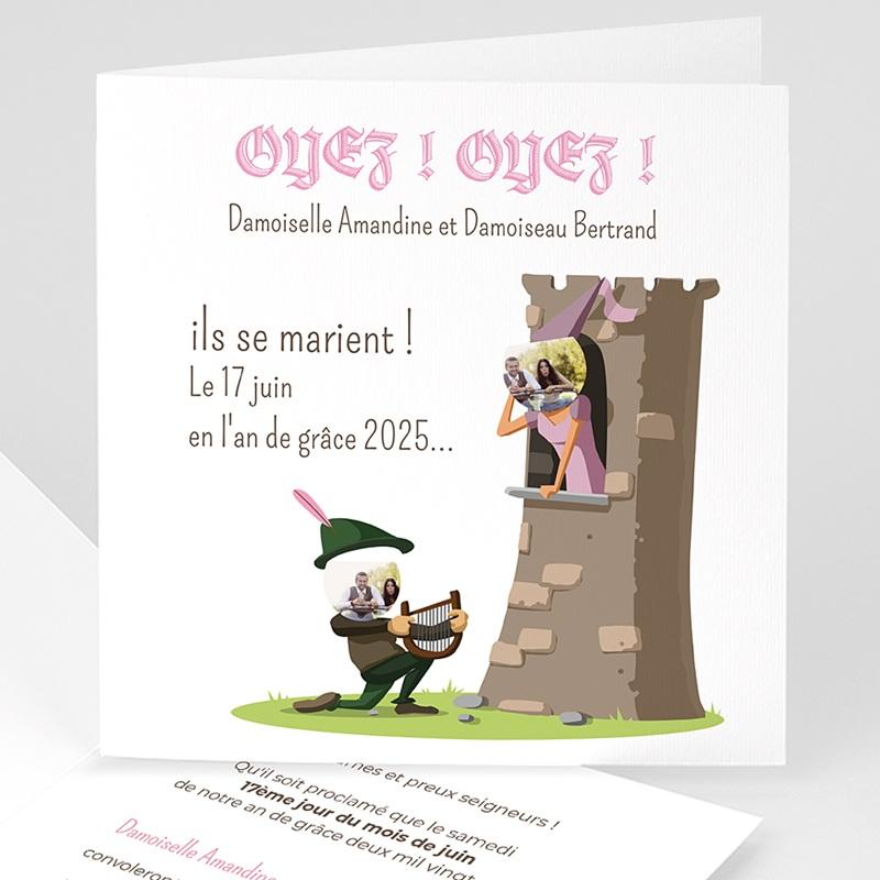 Faire Part mariage humoristique - Moyen Age 41213 thumb