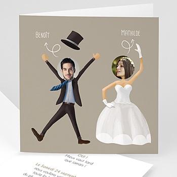Faire Part mariage humoristique - On se marie ! - 0