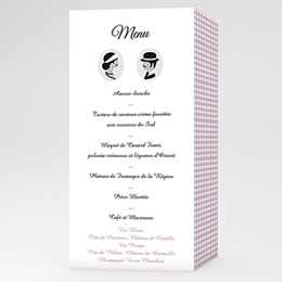 Menu Mariage Personnalisé Lady and Gentleman