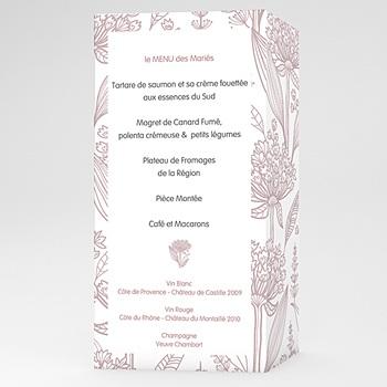 Menu Mariage Personnalisé Douceur d'Antan